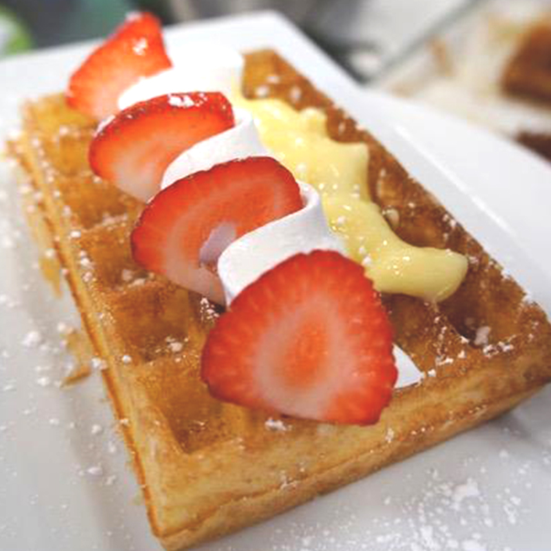 Liege Waffle and strawberries